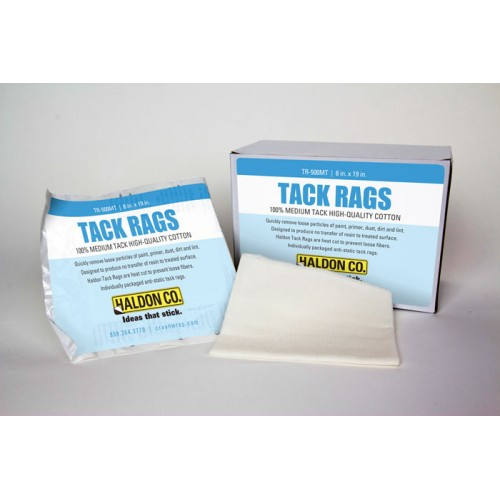 Haldon Tack Rags—Quickly remove loose particles of paint, primer, dust, dirt and lint.