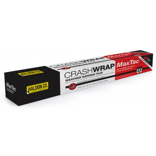 Crash Wrap MaxTac — Weather Barrier Film. Protects the interior of damaged vehicles.