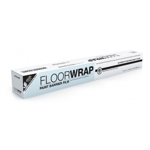 FloorWrap® Original Aggressive adhesive ideal for untreated concrete covering 36 in. x 120 ft. Roll, White #FW136W